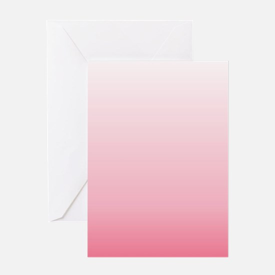 ombre blush pink Greeting Cards