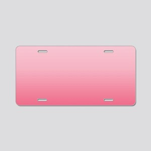 ombre blush pink Aluminum License Plate