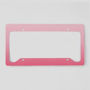 ombre blush pink License Plate Holder