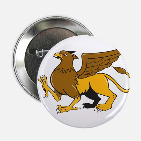 """Griiffin Marching Side View Cartoon 2.25"""" Button ("""