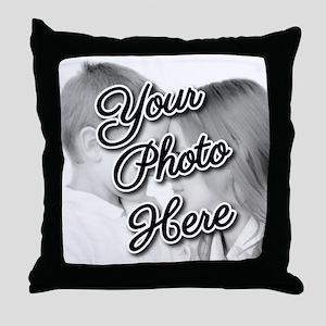 CUSTOM Your Photo Here Throw Pillow