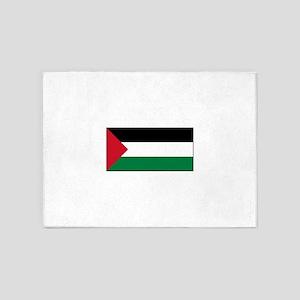 Palestine Flag 5'x7'Area Rug