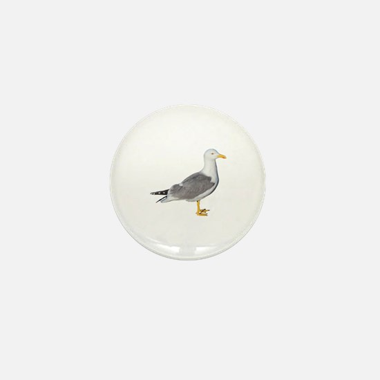 Yellow Legged Gull Mini Button