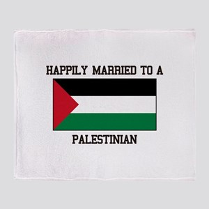 Happily Married to a Palestine Throw Blanket