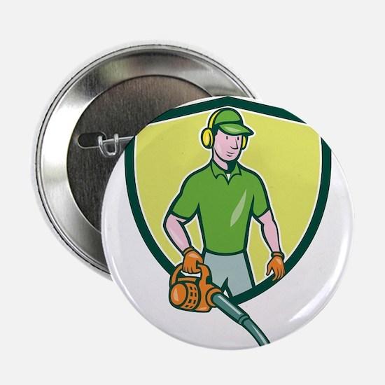 Gardener Landscaper Leaf Blower Crest Cartoon 2.25