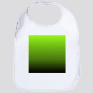 ombre lime green Bib
