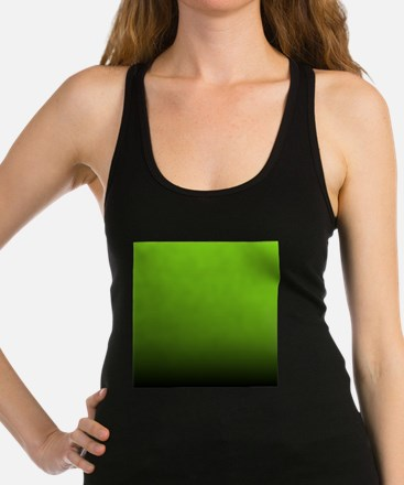 ombre lime green Racerback Tank Top
