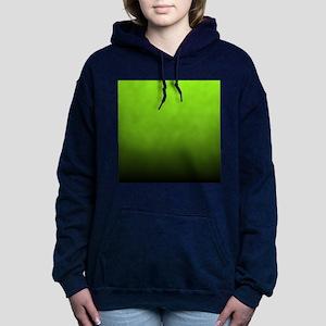 ombre lime green Women's Hooded Sweatshirt