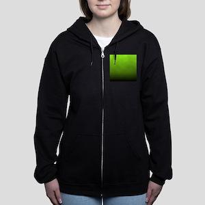 ombre lime green Women's Zip Hoodie