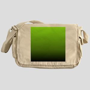 ombre lime green Messenger Bag