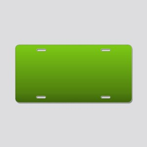 ombre lime green Aluminum License Plate