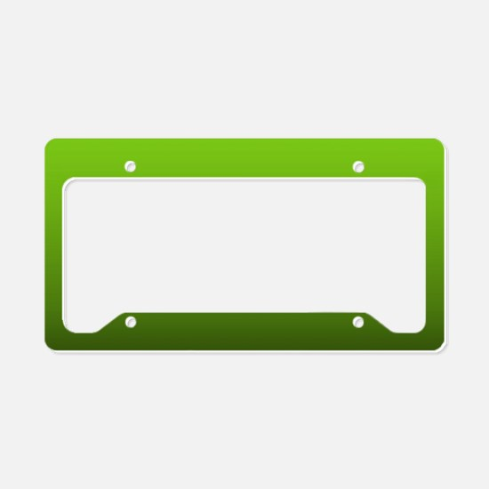 ombre lime green License Plate Holder