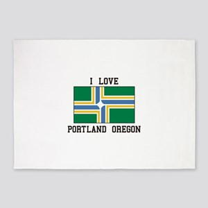 I Love Portland Oregon 5'x7'Area Rug