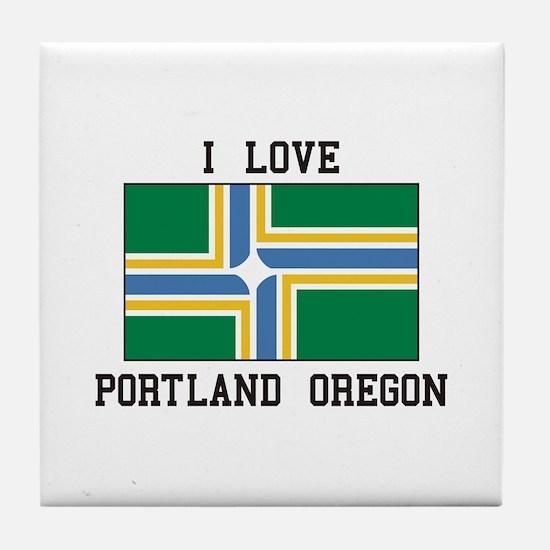 I Love Portland Oregon Tile Coaster
