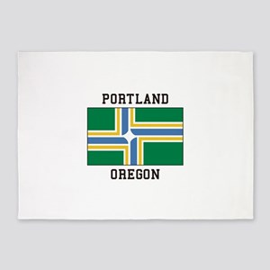 Portland Oregon 5'x7'Area Rug
