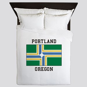 Portland Oregon Queen Duvet