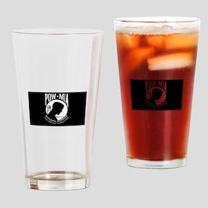 POW-MIA Flag Drinking Glass