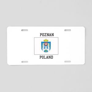 Poznan Poland Aluminum License Plate