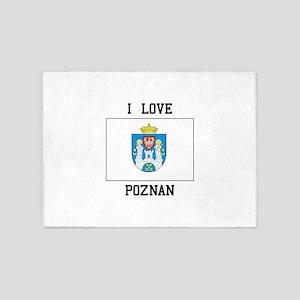 I Love Poznan 5'x7'Area Rug