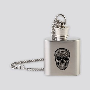 Radiology Terms Skull Flask Necklace