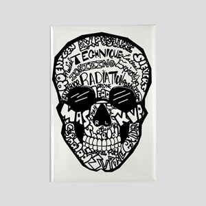 Radiology Terms Skull Rectangle Magnet