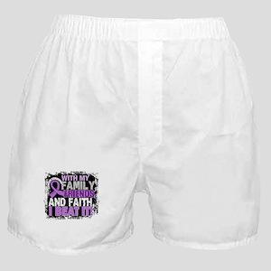 Cancer Survivor FamilyFriendsFaith Boxer Shorts