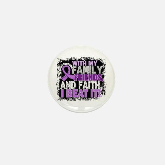 Cancer Survivor FamilyFriendsFaith Mini Button