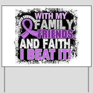Cancer Survivor FamilyFriendsFaith Yard Sign