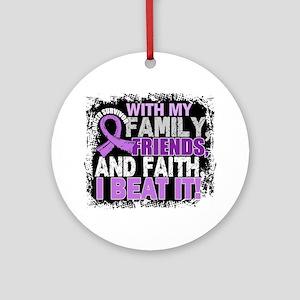 Cancer Survivor FamilyFriendsFait Ornament (Round)