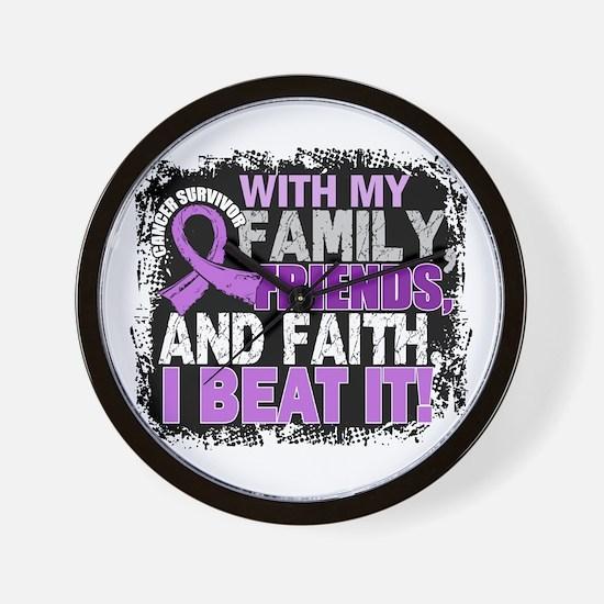 Cancer Survivor FamilyFriendsFaith Wall Clock