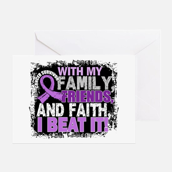 Cancer Survivor FamilyFriendsFaith Greeting Card