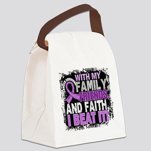 Cancer Survivor FamilyFriendsFait Canvas Lunch Bag