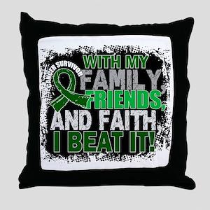 Liver Cancer Survivor FamilyFriendsFa Throw Pillow