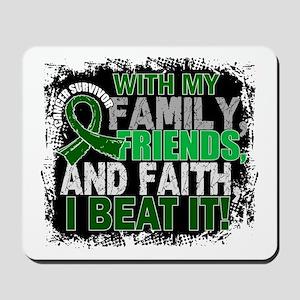 Liver Cancer Survivor FamilyFriendsFaith Mousepad