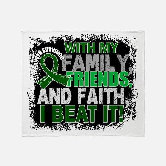Liver Cancer Survivor FamilyFriendsF Throw Blanket