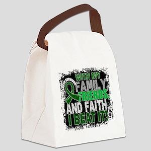 Liver Cancer Survivor FamilyFrien Canvas Lunch Bag