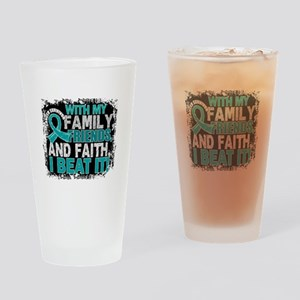 Gynecologic Cancer Survivor FamilyF Drinking Glass