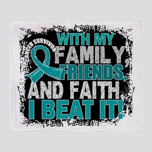 Gynecologic Cancer Survivor FamilyFr Throw Blanket