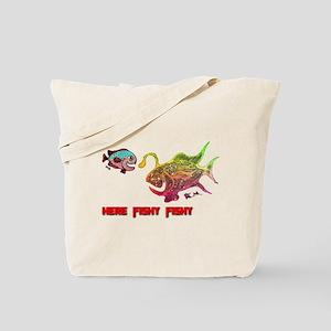 Here Fishy Fishy. Fish. Retro Tuna Fish RCM Tote B