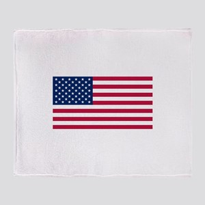 United States Throw Blanket