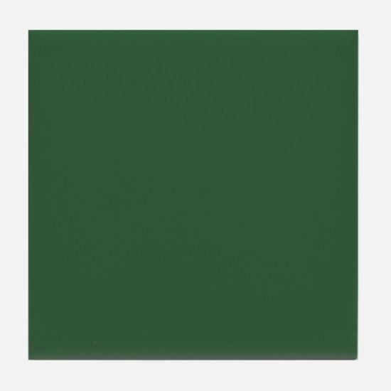 Solid Hunter Green Tile Coaster