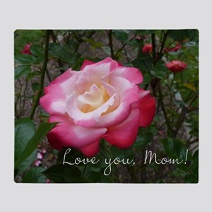 Love you Mom Rose Throw Blanket
