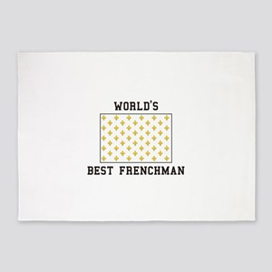 World's Best Frenchman 5'x7'Area Rug