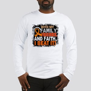 Kidney Cancer Survivor FamilyF Long Sleeve T-Shirt