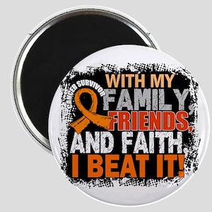 Leukemia Survivor FamilyFriendsFaith Magnet