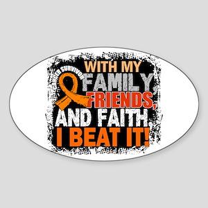 Leukemia Survivor FamilyFriendsFait Sticker (Oval)