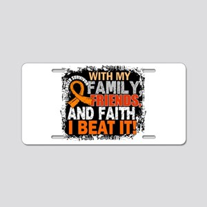 Leukemia Survivor FamilyFri Aluminum License Plate