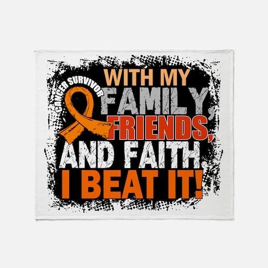 Leukemia Survivor FamilyFriendsFaith Throw Blanket