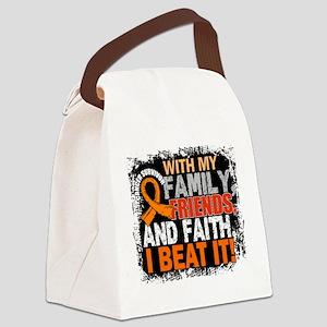 Leukemia Survivor FamilyFriendsFa Canvas Lunch Bag