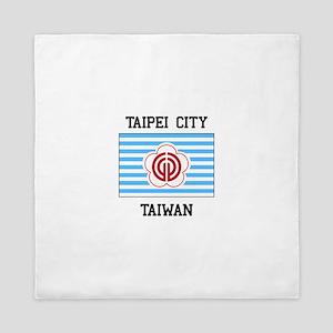 Taipei city, Taiwan Queen Duvet